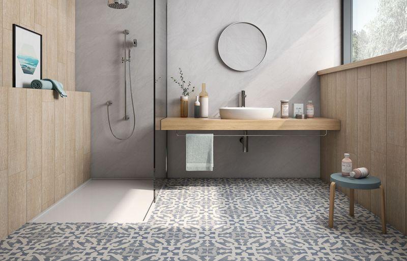 carreaux en cimentde salle de bains